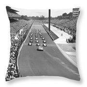 Indy 500 Parade Lap Throw Pillow