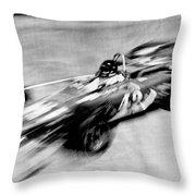 Indy 500 Race Car Blur Throw Pillow