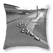 Indy 500 Race Start Throw Pillow