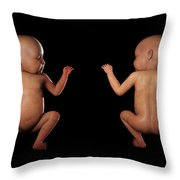 Infant Anatomy Throw Pillow