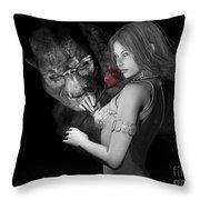 Infatuated  Roses Throw Pillow