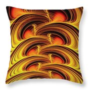 Inferno Throw Pillow by Anastasiya Malakhova