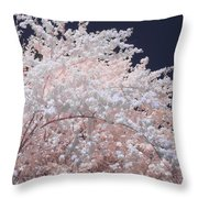 Inferred Spring Throw Pillow