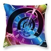 Infinite Time Rainbow 1 Throw Pillow