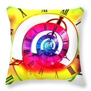 Infinite Time Rainbow 3 Throw Pillow