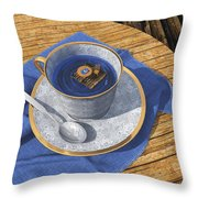 Infinitea Throw Pillow by Cynthia Decker