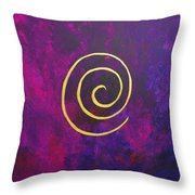 Infinity - Deep Purple With Gold Throw Pillow