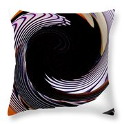 Infinity Feathers 1 Throw Pillow