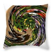 Infinity Flower Spiral 1 Throw Pillow