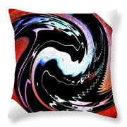 Infinity Multicultural American Flag Yin Yang 1 Throw Pillow