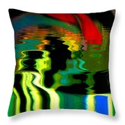 Infinity Rainbow River 1 Throw Pillow