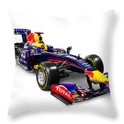 Infinity Red Bull Rb9 Formula 1 Race Car Throw Pillow