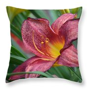Inflamed - Lily Throw Pillow