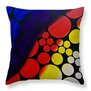 Inflating  Bubbles Throw Pillow