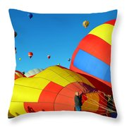 Inflating Throw Pillow