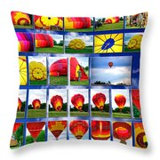 Inflation Hot Air Balloon Throw Pillow