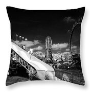 Infrared Carnival Throw Pillow