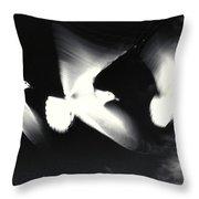 Infrared Gulls Throw Pillow