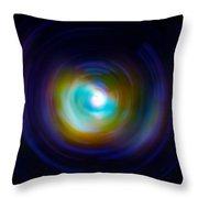 Infrared Iris Spin Art Throw Pillow