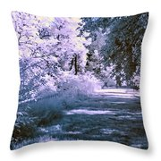 Infrared Morning Throw Pillow