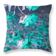 Infrared Roses Throw Pillow