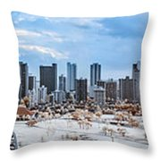 Infrared Sunset Over Honolulu Throw Pillow