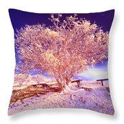 Infrared Tree Throw Pillow