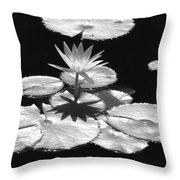 Infrared - Water Lily 02 Throw Pillow