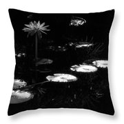 Infrared - Water Lily And Lily Pads Throw Pillow