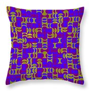 Infused Segments.13 Throw Pillow