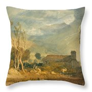 Ingleborough From Chapel-le-dale Throw Pillow