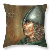 Ingolfur Arnarson Throw Pillow