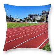 Ingram Field At Usna Throw Pillow