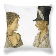 Inhabitants Of New Zealand, 1826 Throw Pillow