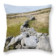 Inis Mor Fields Of Stone Throw Pillow