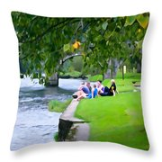 Inistioge Friends Throw Pillow