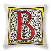 Initial 'b', C1600 Throw Pillow