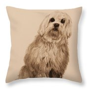 Ink Dog Throw Pillow