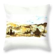Ink Landscape Throw Pillow
