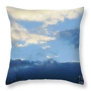 Inkblot Clouds 2 Throw Pillow
