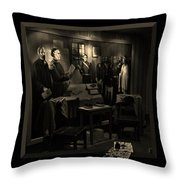 Inked In Forked Tongue Throw Pillow