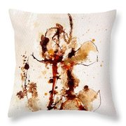 Ink_r4 Throw Pillow