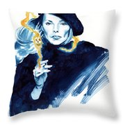 inktober 25 Joni's folly Throw Pillow