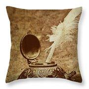 Inkwell II Throw Pillow by Tom Mc Nemar