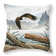 Inland Sea Eagle Throw Pillow