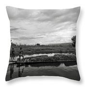 Inle Lake In Burma Throw Pillow