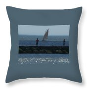 Inlet At West Cape May Nj Throw Pillow