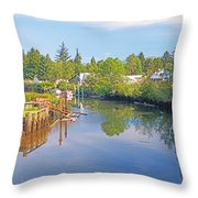 Inlet Of The Columbia River At Skamokawa Washington Throw Pillow