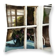 Inn Window Throw Pillow