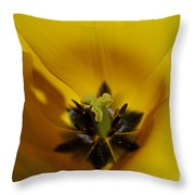 Inner Beauty Of A Tulip Throw Pillow